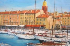 Les voiliers au port de St Tropez