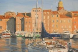 Le voilier amarré St Tropez