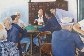 Parties de cartes au café des arts